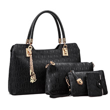 Women Bag Top-Handle Bags Messenger Bags Handbag Female Composite Bag 4 Pieces 1 Set