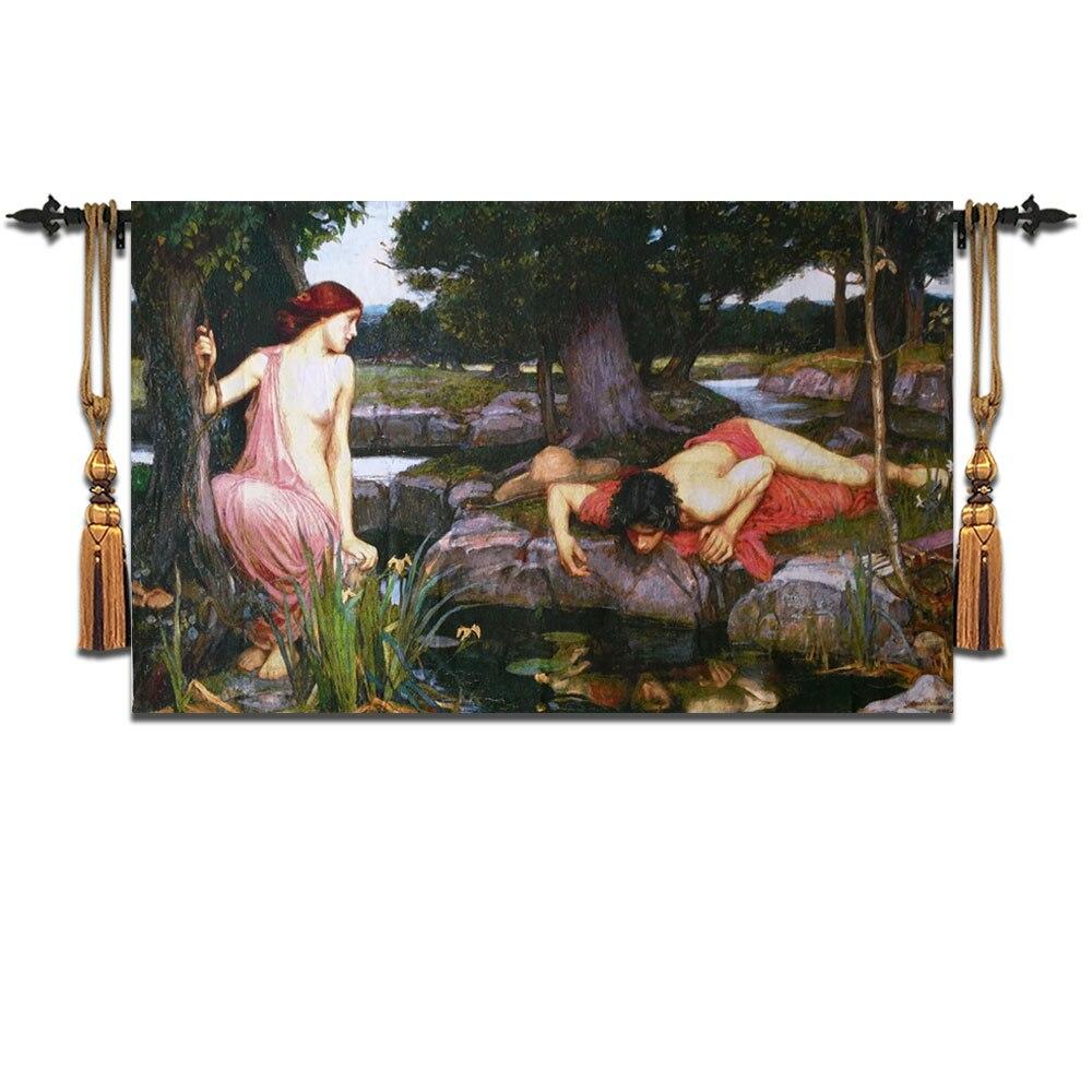 110*175 Belgium tapestry living room sofa background wall blanket Greek Mythology art fabric home textile