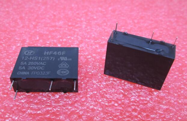 HOT NEW relay HF46F 12-HS1 HF46F 012-HS1 HF46F-12-HS1 HF46F-012-HS1 HF46F-12HS1 12V 12VDC DC12V 5A 250VAC 4PIN free shipping 100% new original relay 10pcs f3aa024e 24v 4pin 5a 250vac