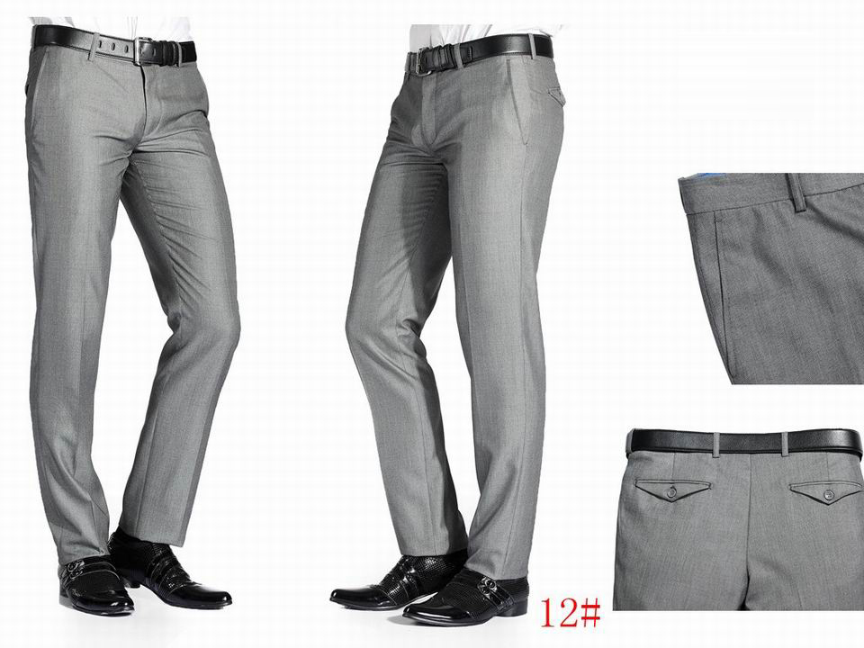 2015 New Fashion Brand Suit Pants High Quality Men Slim Fit Formal ...