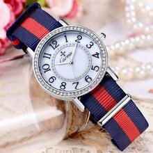 Reloj de Las Mujeres Carmis marca de Moda de lujo de cuarzo Ocasional reloj Único Con Estilo relojes de deporte de la Señora N339 Rhinestone reloj de pulsera