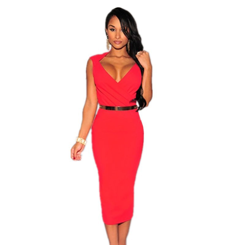 Bodycon Knee Length Midi Dress 3