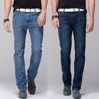 Mężczyźni dżinsy stretch denim skinny jeans ołówek spodnie skinny leg fit slim proste spodnie obcisłe spodnie