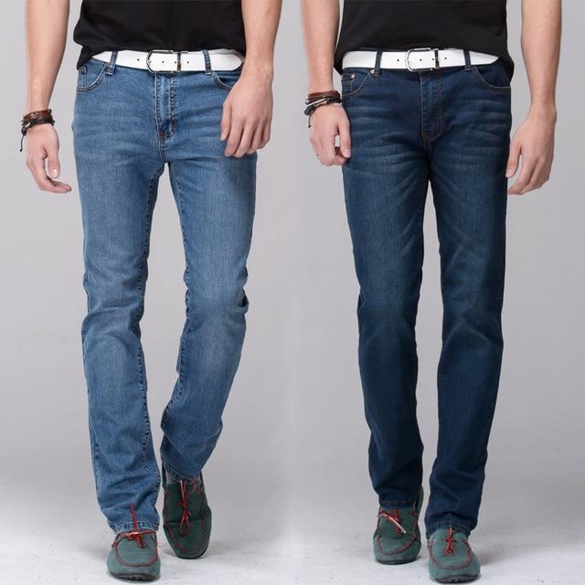 92391d8b2f4a Men jeans stretch denim skinny jeans pencil pants skinny leg fit slim  straight trousers tight pants