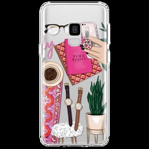 Fall Für Samsung Galaxy A50 A40 A30 A7 A9 A8 A6 Plus 2018 A60 A70 A3 A5 2017 Hinweis 8 9 5 Coque TPU Weichen Schwarz Braun Haar Machen up