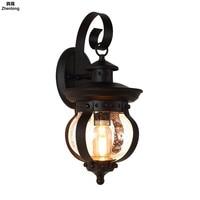 Наружный винтажный Настенный светильник водонепроницаемый креативный настенный светильник E27 светодиодная лампа AC85 265V для балкона дорожк