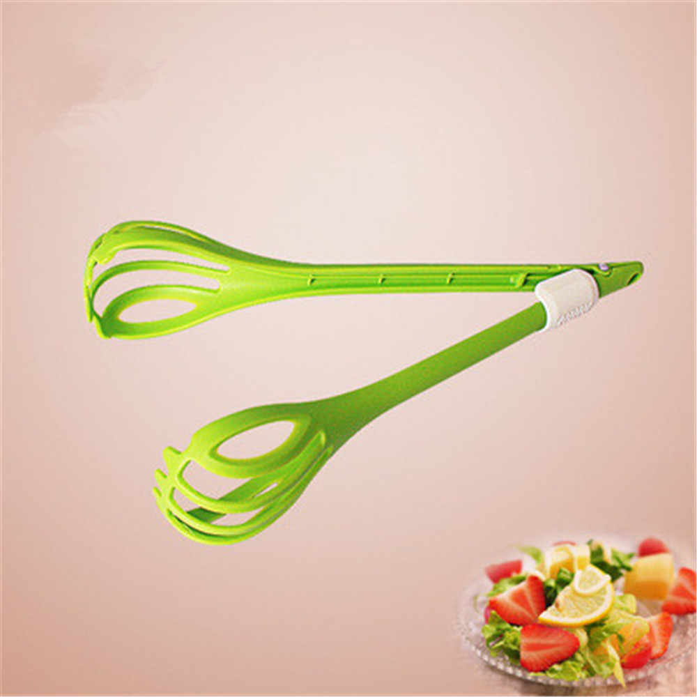 Eco-Friendly Kitchen Food Tong Durable Food Grade Plastic Salad Clip Kitchen Gadgets Multifuction Creative Salad Tools