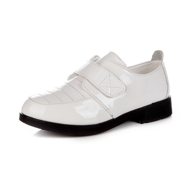 Fashion Child Wedding Shoes Party Spring Breathable Boy Dress Leather Kid White Black School
