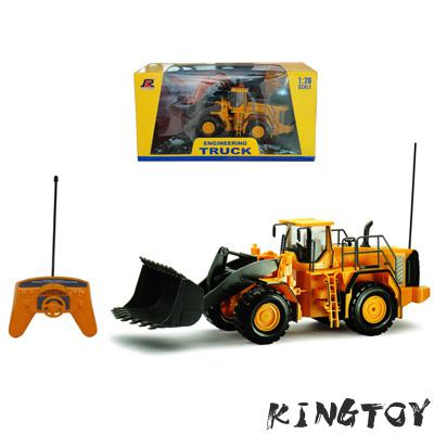 Boy RC Truck 2.4G Wheeled Loading Shovel Large Remote Controlled Digger Kids Rc Electric Excavator Big Model