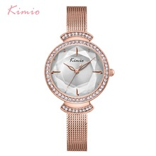 цена на Kimio Brand Women Quartz Watches Ladies Creative Multi-faceted Dial Watch Luxury Stainless Steel Mesh Belt Waterproof Wristwatch