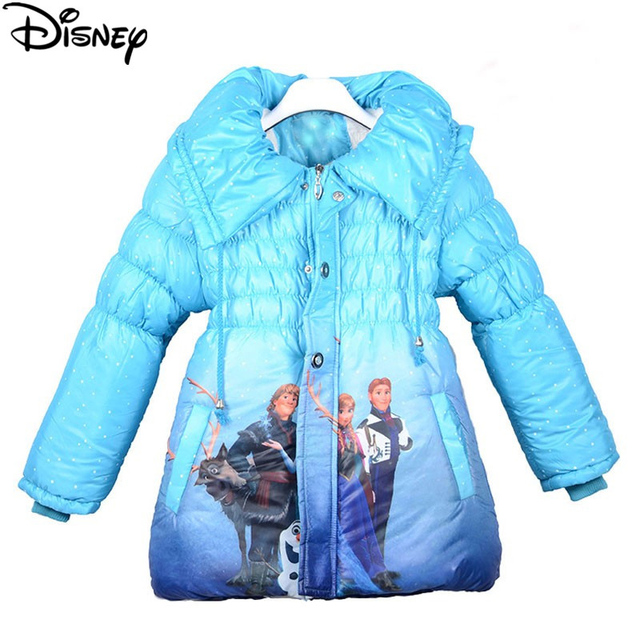 c59c39ac5ff7 Disney Frozen elsa parka Winter snow wear Long Sleeve Outwear Coats Cotton  baby Kids Clothing Outfits down jacket for girl