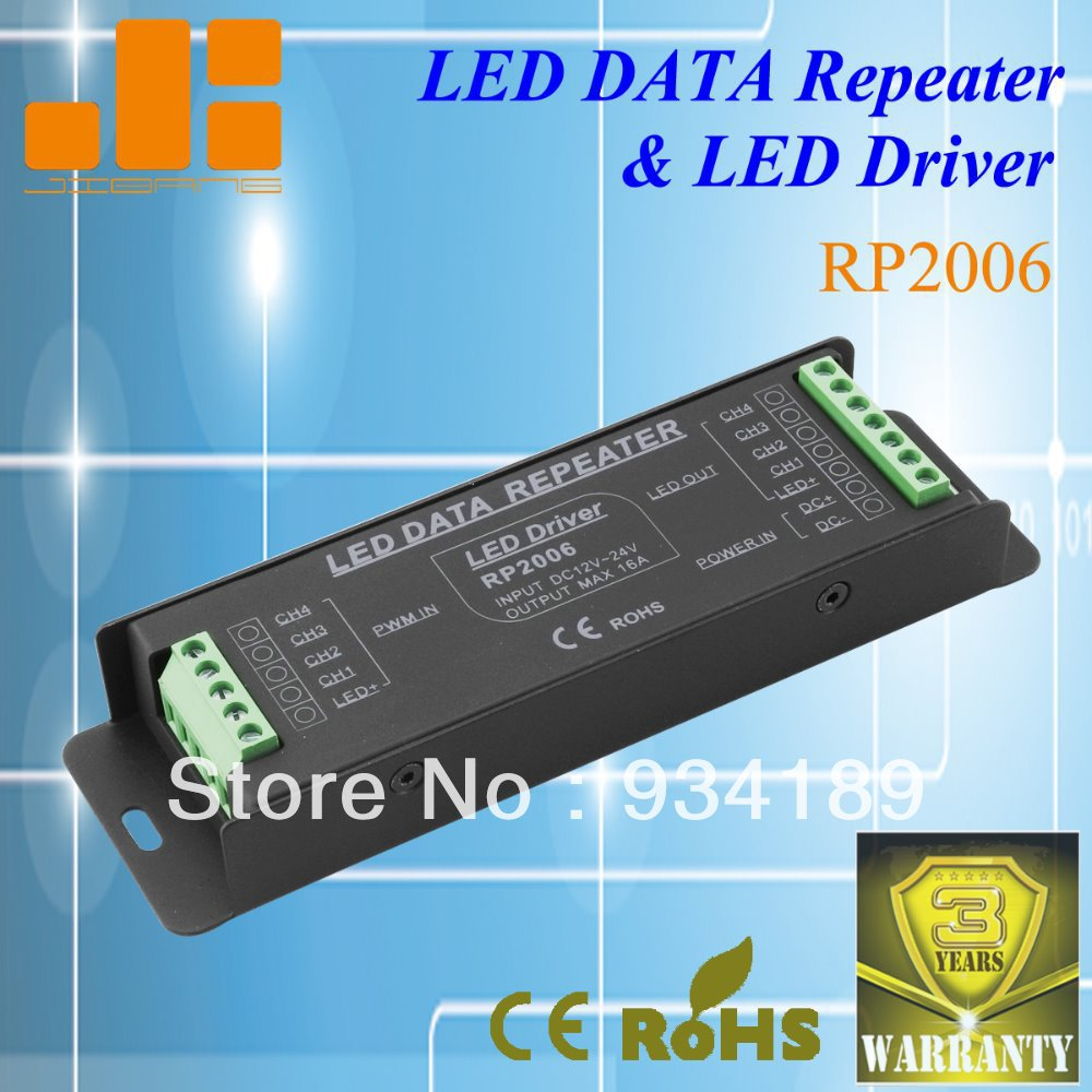 Free Shipping LED DATA REPEATER LED DRIVER 4 Ch LED Amplifier DC12-24V Constant Voltage Single Channel Output kvp 24200 td 24v 200w triac dimmable constant voltage led driver ac90 130v ac170 265v input