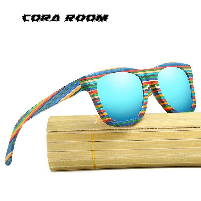 New wooden sunglasses color wooden frame sunglasses polarized sunglasses personalized bamboo glasses fashion retro sunglasses