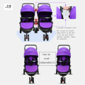 Split twin baby carriage multi cell high sight baby carriage twin baby stroller split double twins sit flat folding Baby Strolle