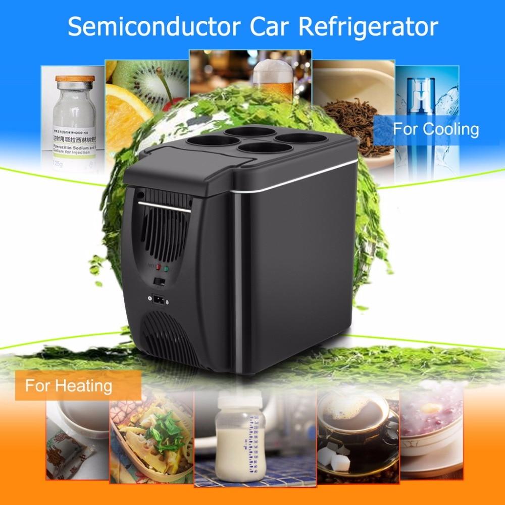 imágenes para 6L Mini Refrigerador Del Coche Refrigerador Caliente 2 en 1 Multi-función 12 V Viajes Nevera Portátil Nevera Eléctrica Refrigerador arcón Congelador