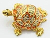 Popular Metal Enamel Tortoise Trinket Traditional Jewelry Box 7 5 6 4 CM L W H