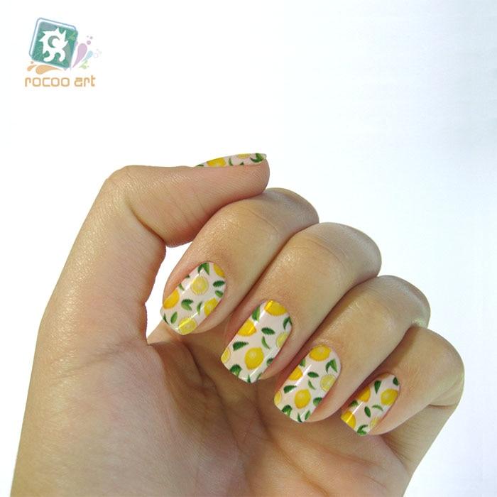 K56919 Different Fruit Nail Designs Styles Banana Water Nail Art