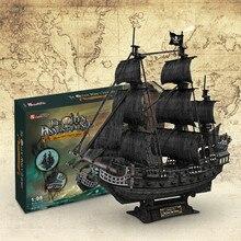 Пираты Карибы черный жемчуг Модель Набор корабль строительные блоки комплекты кирпичей развивающие игрушки 3D стереоскопическая головоломка подарок