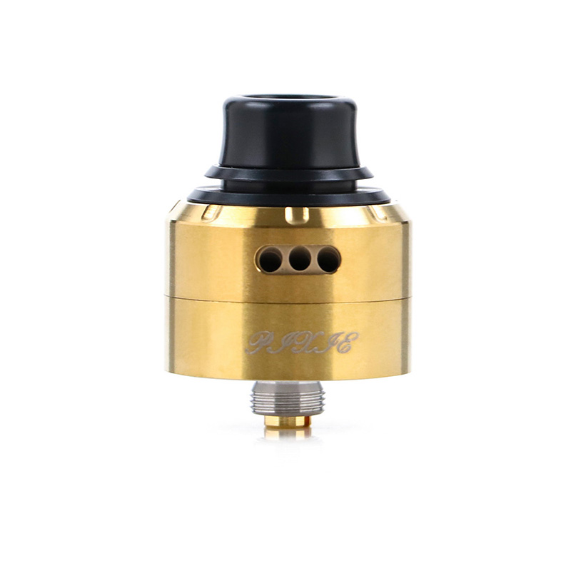 Newest Vapefly Pixie RDA single coil bottom feed vape tank avoid heating and leakproof RDA atomizer VS holic RDA