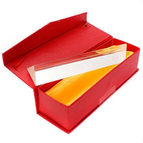 Promotion! 6 inch Optical Glass Triple Triangular Prism Physics Teaching Light Spectrum 15 physical science optical experiments triangular prism convex lens physics optical instruments durable quality