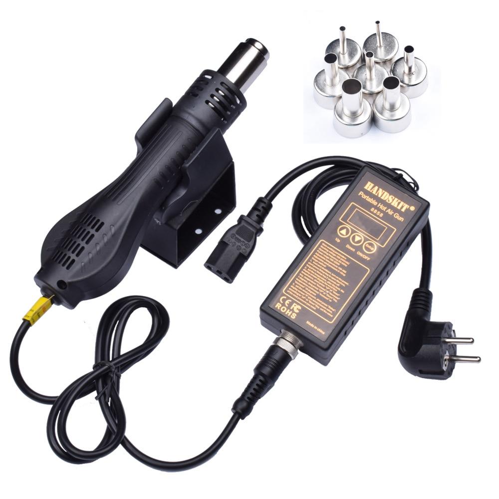Handskit Soldering Station +Hot Air Gun Portable BGA Rework Station +Nozzle Hand-held Welding Solder Tool