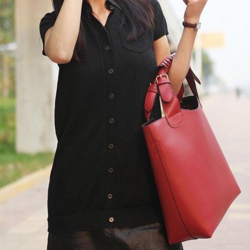 Naiste õlakott 2018 PU nahast oranž daamid kotid kootud kott - Käekotid - Foto 3