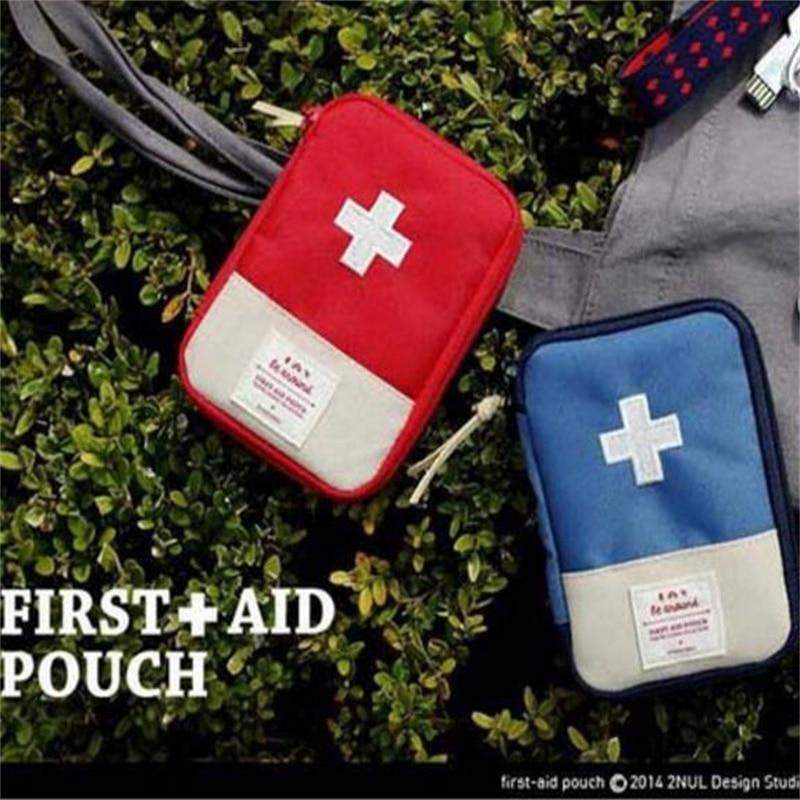 15*10CM Outdoor Travel First Aid Pouch Portable Medicine Storage Bag Medical Organization Zipper Bag