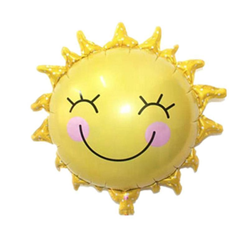 Home & Garden Purposeful Sun Flower Foil Balloons Smile Face Mylar Balloon Lovely Kids Toy For Birthday Party Decoration Relieving Rheumatism
