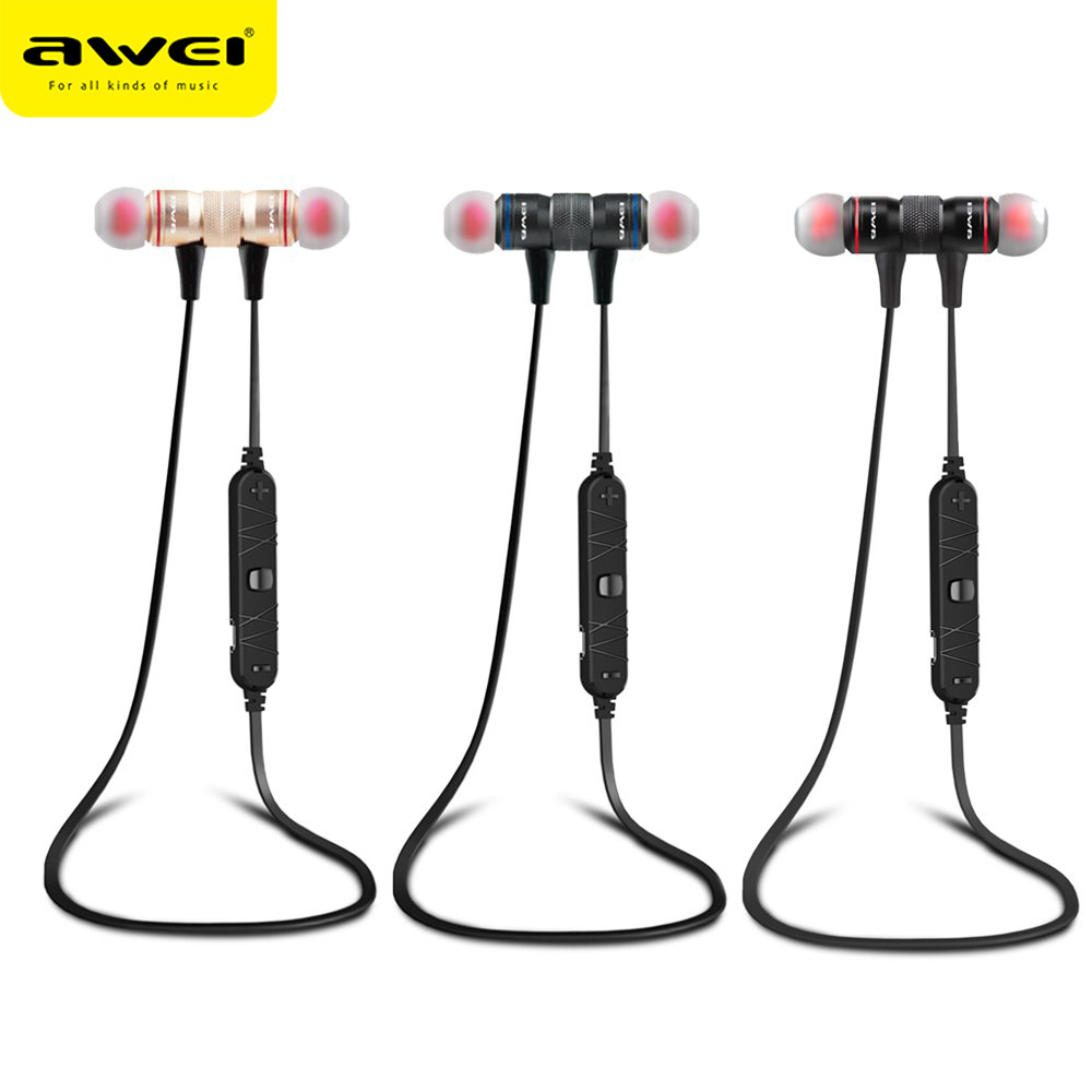 Originale Awei A920BL Smart Wireless Bluetooth 4.0 Stereo Sport Musica Auricolare In-Ear Headset Riduzione Del Rumore Con Il Mic