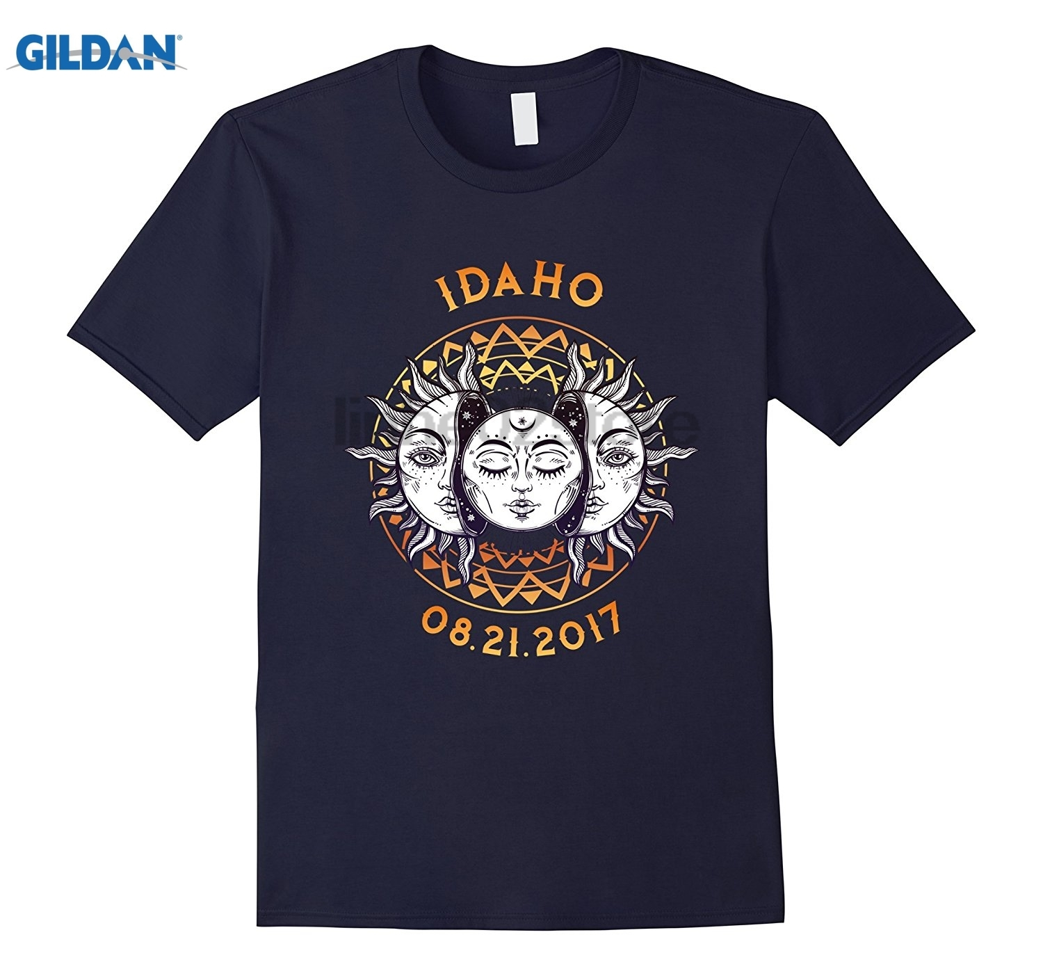 GILDAN Idaho Total Solar Eclipse 2017 T Shirt Vintage Graphic Hot Womens T-shirt summer dress T-shirt