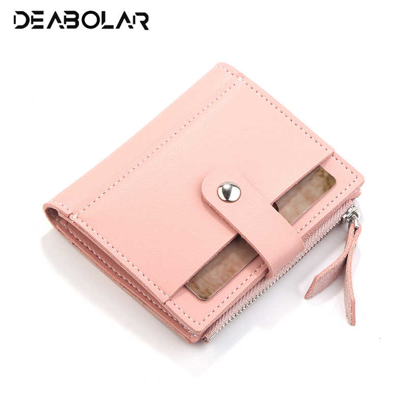 Hot Fashion Casual Women s Purse Short Design Women s Wallet PU Leather id  Card Holder Zipper Hasp 08246aed95a7