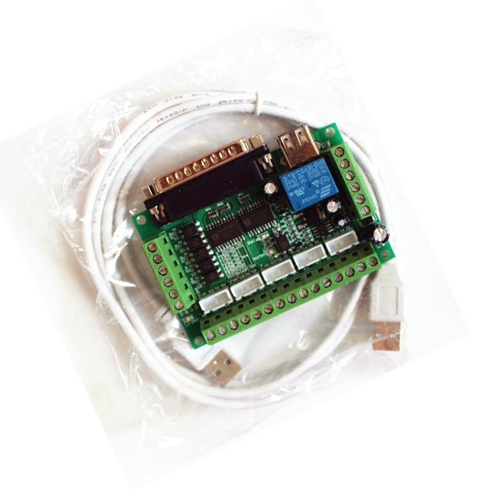 MACH3 плата интерфейса CNC 5 оси с адаптер оптопары Драйвер шагового двигателя + USB кабель