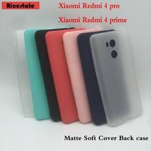 Para Xiaomi Redmi 4 pro 3 GB/32 GB funda para Xiaomi Redmi 4 Pro cristal y colores sólidos funda trasera silicona suave