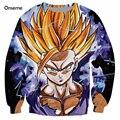 Lo nuevo Del Anime Dragon Ball Z Super Saiyan 3D Sudadera Lindo Kid Goku/Vegeta Pullovers de cuello redondo Mujeres de Los Hombres de Manga Larga prendas de vestir exteriores
