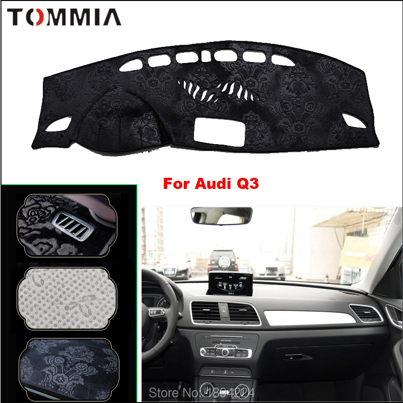 Tommia Car Dashboard Cover Mat Light Avoid Pad Photophobism Anti-slip protection For Audi Q3