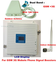 LCD Display GSM 3G UMTS 900 2100 MHz Mobile Phone Signal Repeater Dual Band GSM 3g