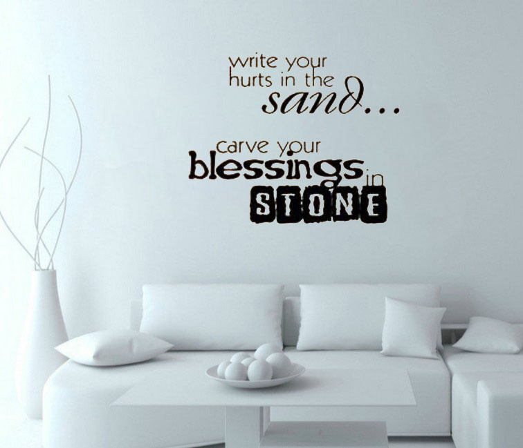 Aliexpress.com : Buy Write Your Hurts In The Sand...in Stone Wall Art Decals  Living Room Decorative Stickers Bedroom Wallpaper From Reliable Stickers ... Part 65