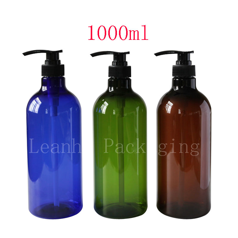 1000ml  lotion pump container empty shampoo plastic bottle  with liquid soap dispenser refill bottle  cosmetic spray  pump god of castanea henryi 100g 10
