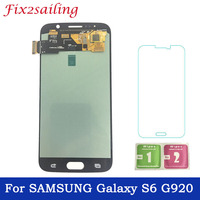 Super AMOLED LCDS For Samsung GALAXY S6 G920 G920F LCD Display Touch Screen Digitizer Assembly Replacement Part Free Shipping