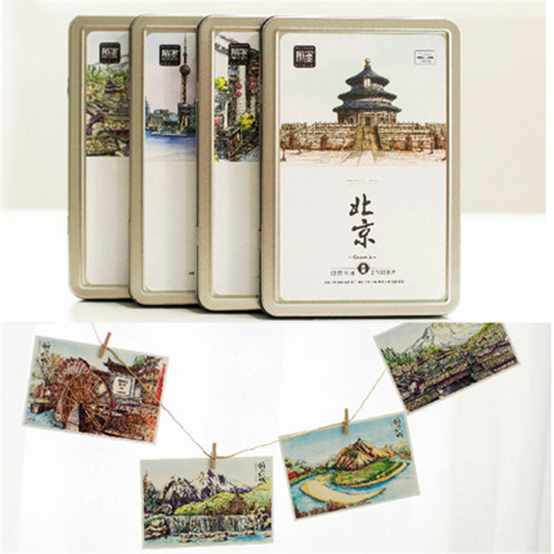 postcard christmas post card invitations papel kraft paper for scrapbooking postcards tarjetero crafts greeting cards Landscape postcard christmas gift post card postcards chinese famous cities beautiful landscape greeting cards ansichtkaarten ningbo