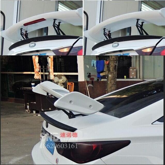 JIOYNG ABS noir apprêt universalité berline trois-boîte aileron arrière aile coffre lèvre Auto voiture lèvre Spoiler argent/noir 1968-2018