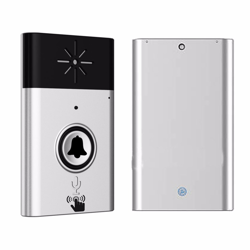 CST-H611 H6 Wireless Doorbell Voice Intercom 300M Distance Outdoor Transmitter Indoor Receiver Intelligent With Fixed Paste wireless doorbell with speaker voice intercom 300m distance silver glod