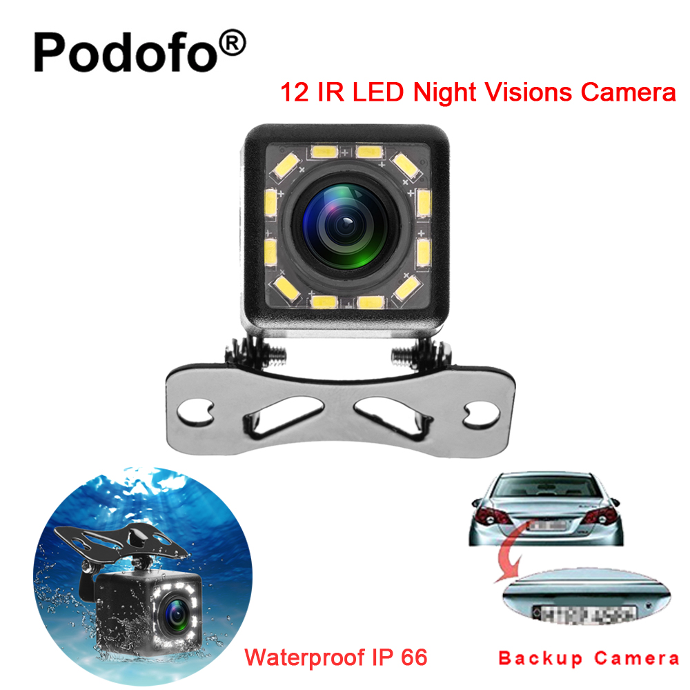 Podofo Waterproof Car Rear View font b Camera b font 170 Wide Angle HD CCD 12