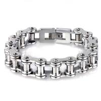 11mm Wide Chunky Link 316L Stainless Steel Bracelet Mens Boys Chain Hip Hop Biker Jewelry 8