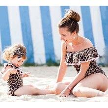 2018 Family One Piece Swimsuit Mother Daughter One-piece Bikini Womens Girls Swimwear Monokini Toddler Kids Girls Bathing Suit