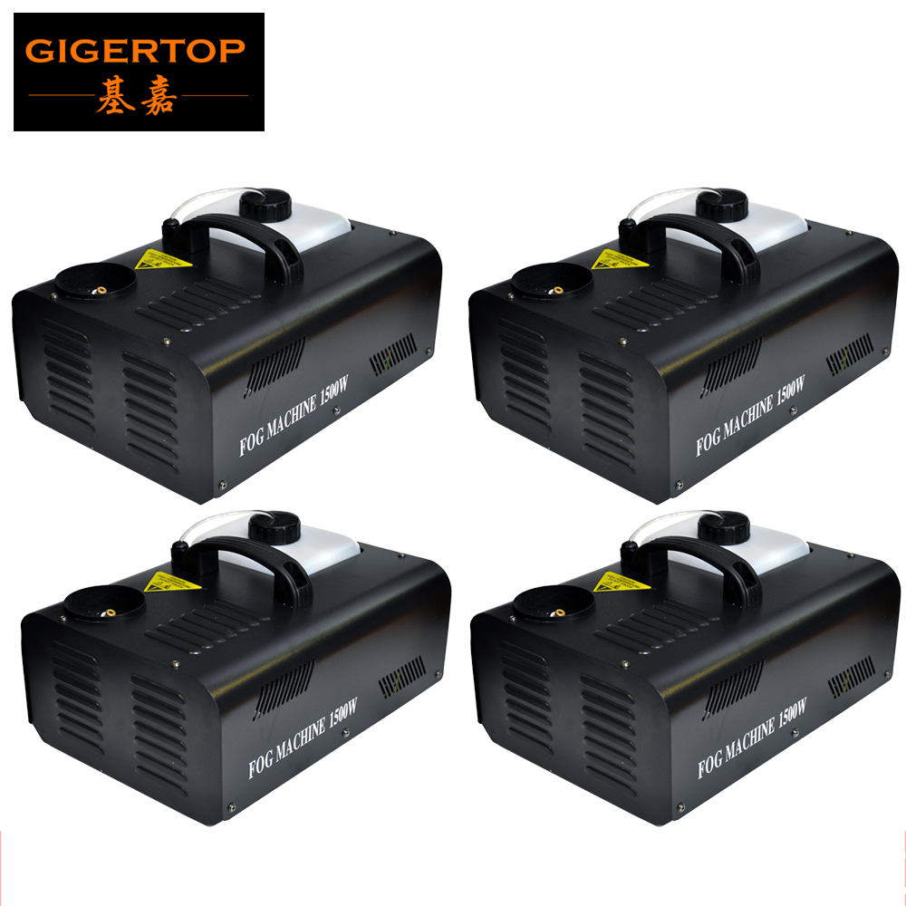 Freeshipping 4pcs/lot 1500W UP Fog Machine Professional Stage Smoke Machine 110V-240V DMX Remote Control Way CE ROHS DJ Fogger ...