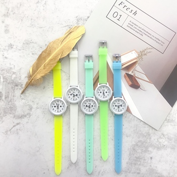 Silica gel color strap lovely simple childrens cartoon watch children gifts