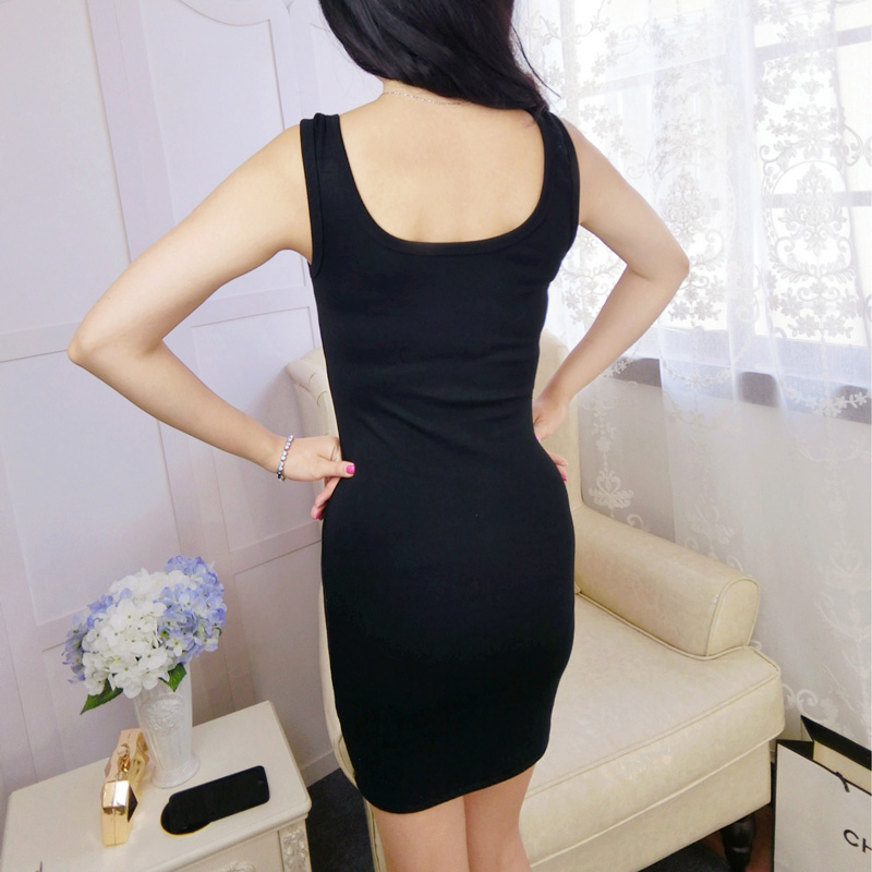 2018 Summer Casual Women Elegant Fashion Vest Dresses Sleeveless Strap Hot Sundress Slim Sexy Party Prom Feminina Mini Dress in Dresses from Women 39 s Clothing