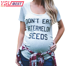 2019 Pregnant Maternity T Shirts Shorts Casual Pregnancy Clothes Letter Women Maternity Clothing Cotton Summer Maternity
