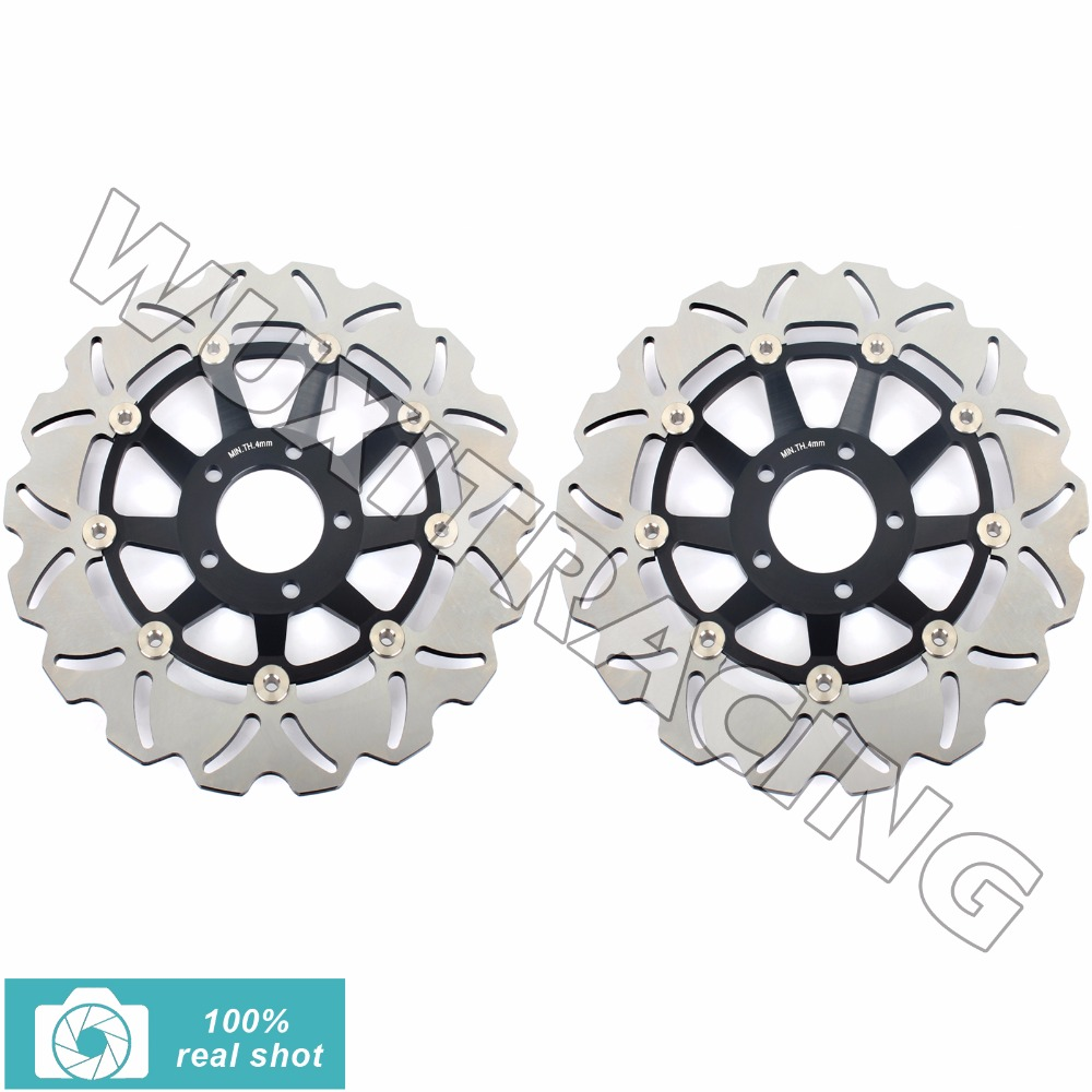 BIKINGBOY Front Brake Discs Rotors for SUZUKI GSXR750 GSXR1100 GSX R 750 1100 F W LIMITED EDITION 1988-2000 89 90 91 92 93 94 цены онлайн